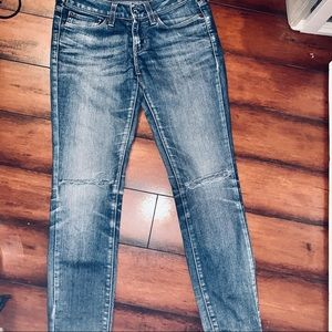Levi's Ripped Blue Jeans